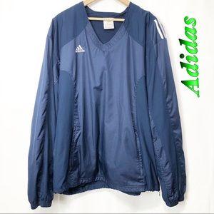 Adidas-Navy V neck pocket pullover Men's XL